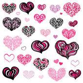 Любовь. Изолированных иллюстрация сердца. — Cтоковый вектор