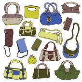 Collection women's handbags. — Stock Vector
