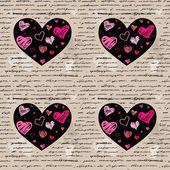 Hart illustratie. liefde. vector achtergrond. — Stockvector