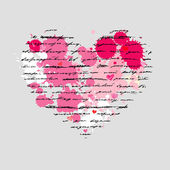 Herz Illustration. Liebe. Vektor-Hintergrund. — Stockvektor
