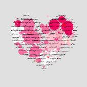 Ilustração de coração. amor. de fundo vector. — Vetorial Stock