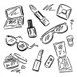 Cosmetics.  Makeup set. — Stock Vector