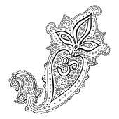 Paisley. Ethnic ornament. Om Aum Symbol. — Stock Vector