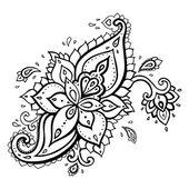 Paisley. ornamento étnico. — Vector de stock