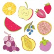Set of tropical fruit. — Stock Vector #36195177