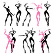 Abstract dancing figures — Stock Vector