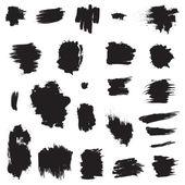 Grunge painted brush strokes. Design elements set. — Stock Vector