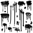 Ink splatters. Grunge design elements collection. — Stock Vector