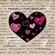 Heart illustration. Love. Vector background. — Imagens vectoriais em stock