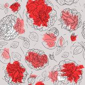 Kwiaty tło. wzór — Wektor stockowy