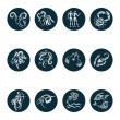 Horoscope Zodiac  Star signs, vector set. — Stock Vector