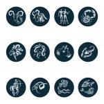 Horoscope Zodiac Star signs, vector set. — Stock Vector #36846495
