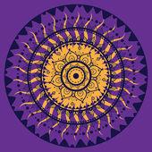 曼陀罗。印度的装饰图案. — 图库矢量图片