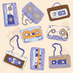 Set of retro cassette tapes — Stock Vector #37607981