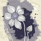 Snowdrop flower on Crumpled paper background. — Stockvector