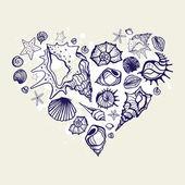 сердце оболочек. — Cтоковый вектор