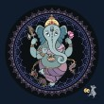Ganesha Hand drawn illustration. — Stock Vector #41571137
