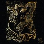 Ganesha Hand drawn illustration. — Stock Vector #41572473