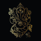 Ganesha illustration dessinée à la main. — Vecteur