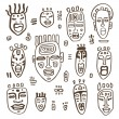 African Masks set. — Vecteur
