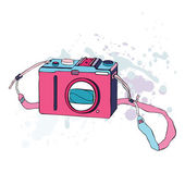 Photo Camera. Vector Illustration. — Stock Vector
