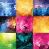 Polygonal Geometric backgrounds. — Stock Vector