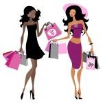 Women shopping bags — Stock Vector #42867495