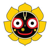 Jagannath. Indian God of the Universe. — Vector de stock