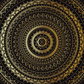 Gold Mandala. Indian decorative pattern. — Stock Vector