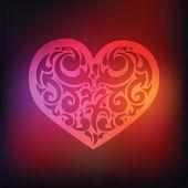Ornamental Heart. Love. — Stock Vector