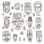 African Masks set. — Stock Vector #47165253