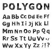 Alphabet. Polygonal font set. — Stock Vector