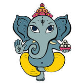 Hindu God Ganesha. — Stock Vector