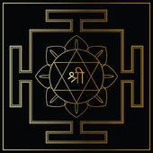 Yantra Goddess Lakshmi. — Stock Vector