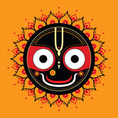 Jagannath. Indian God of the Universe. — Stock Vector