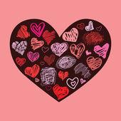 Heart. Design element. — Vettoriale Stock
