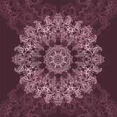 розовый мандала. — Cтоковый вектор
