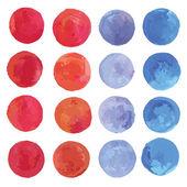 Watercolor circles set. — Stock Vector