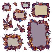 Set of ornamental frames. — Stock Vector