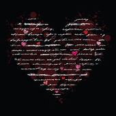Love. Handwriting card. — Stok Vektör