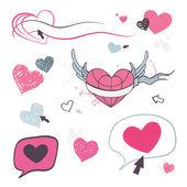 Hearts set. Design element. — Stock Vector