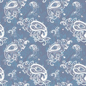Seamless Paisley background. — Stock vektor