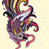 Garuda.  Hand drawn illustration. — Stock Vector