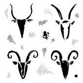 Goat 2015 set. New year Symbol. — Stock Vector