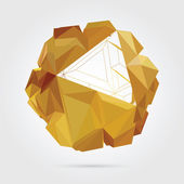 Abstrakte geometrische 3d-illustration. — Stockvektor