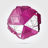 Vector. Abstract 3D geometric illustration. — Stockvektor