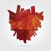Vector. Abstract 3D geometric illustration. — 图库矢量图片