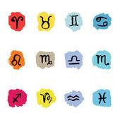 Horoscope Zodiac  Star signs, vector set. — Stock Vector