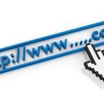 Empty.com URL string and hand cursor — Stock Photo #11476807