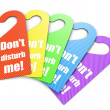 Colorful set of handle signs — Stock Photo
